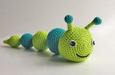 Ravelry: Coriander the caterpillar pattern by Lityfa Crochet Bee, Crochet Teddy, Easter Crochet, Crochet For Kids, Free Crochet, Crochet Patterns Amigurumi, Crochet Blanket Patterns, Baby Knitting Patterns, Baby Patterns