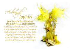 This sheet represents Archangel Jophiel and shows the colours and qualities of this joyful and inspirational Angel. Archangel Jophiel, Seven Archangels, Archangel Prayers, Your Guardian Angel, Oracle Cards, Card Reading, Survival Kit, My Images, Positive Vibes