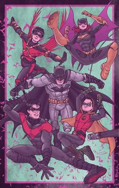 DCnU Batfamily by ~RamonVillalobos on deviantART