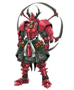 "the-ankle-rocker: ""Talpa/Arago's Dark Warlords of Ronin Warriors/Yoroiden Samurai Trooper by "" Ronin Samurai, Samurai Armor, Robots Characters, Fantasy Characters, Samurai Warriors Anime, Pokemon Rayquaza, Character Art, Character Design, Super Anime"