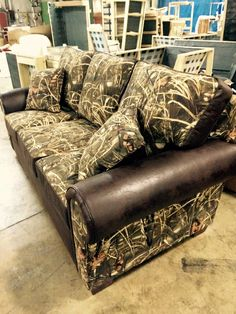 #New Realtree Max-4 Camo Safa by Hunter Furniture