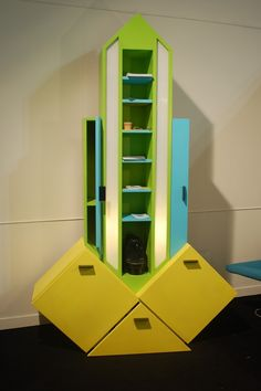 Love this Memphis Milano-style storage unit by from MPDClick's coverage of i saloni