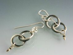 Sterling Chain Dangle Earrings