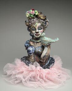 """Tsipora: """"Pink Tutu"""" by Suzy Birstein Sculptures, Lion Sculpture, Queen Nefertiti, Glamour Photo, Pink Tutu, Perfect Boy, Popular Culture, Suzy, Artist At Work"""