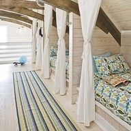 House of Turquoise: Tracery Interiors bunk room millwork Bunk Rooms, Attic Rooms, Attic Spaces, Bunk Beds, Loft Beds, Attic Bathroom, Attic Loft, Twin Beds, Attic Bed