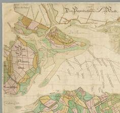 Kaart van den Zuidhollandse waard met de aangrenzende landen, gemaakt op last va…