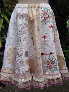Aproveitar pedaços de tecidos bordados