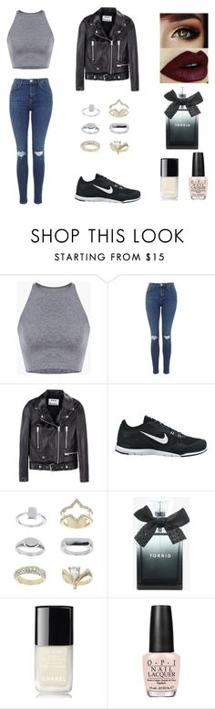 """*14"" by ambrine-77 on Polyvore featuring mode, Acne Studios, NIKE, Topshop, Torrid, Chanel et OPI"