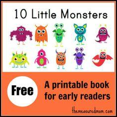 Free Printable Book  - monsters!