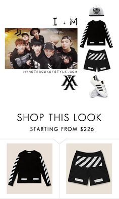 """""""Inspired by I.M in Monsta X's Trespass MV"""" by the92liner ❤ liked on Polyvore featuring Off-White, adidas, im, kpopoutfit, inspiredbyoutfit and monstax"""
