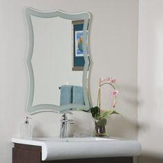 Decor Wonderland Coquette Frameless Wall Mirror & Reviews | Wayfair