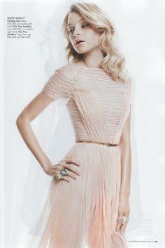 Blush-pink Christian Dior dress