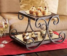 Serving stand by Napa Style Napa Style, Tuscan Style, Tuscan Design, Porta Cupcake, Cake Frame, Cake Holder, Wrought Iron Decor, Fruit Stands, Plant Stands