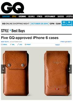 """""""English purveyors of fine goods Hard Graft present probably the best case on offer, without being too posh. The tan leather All-in-One case covers your new beauty with a felt inner, carries your cash, secures everything with press buttons and doubles (triples?) as a kickstand so you really can have your cake and eat it too."""" GQ"""