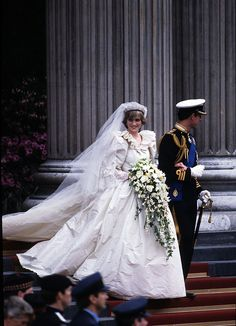 1981 Diana was stunning on her wedding day, with the most glamorous dress and bouquet -- truly fit for a Princess.  via @AOL_Lifestyle Read more: http://www.aol.com/article/2016/06/29/princess-dianas-gravesite-is-getting-a-multimillion-dollar-make/21421568/?a_dgi=aolshare_pinterest#fullscreen