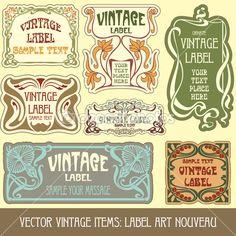 Label art nouveau — Stock Illustration #6663636