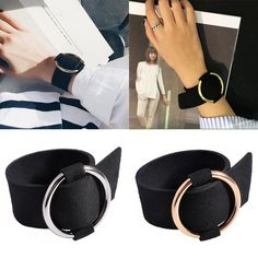 Punk Velvet Bracelet Wristband Metal Circle Round Adjustable Arm Bangle Jewelry -- BuyinCoins.com