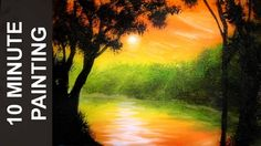 Painting a Sunset on the River in 10 Minutes with Acrylics!