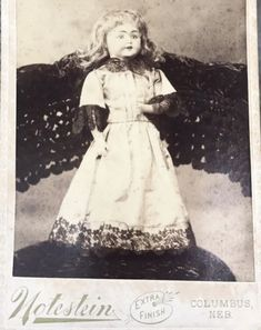Rare-DOLL-ONLY-Cabinet-Card-NOTESTEIN-Neb-Antique-Photo-Toy-NO-CHILD-old