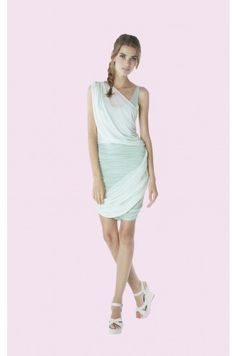 Alice and Olivia One Shoulder Drape Dress, coming to a wedding party this summer!