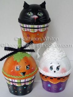 DecorativePaintingStore.com - Halloween Cupcake Boxes Pattern - Kathleen Whiton - PDF DOWNLOAD