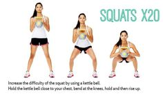 Why not add a #KettleBell to your workout for increased intensity! #30DFC #Fitness #Exercise #Workout