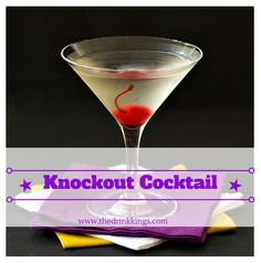 Get ready for fight night with this Knockout Cocktail! #Mayweather #Pacquiao #drinks #cocktails | www.thedrinkkings.com