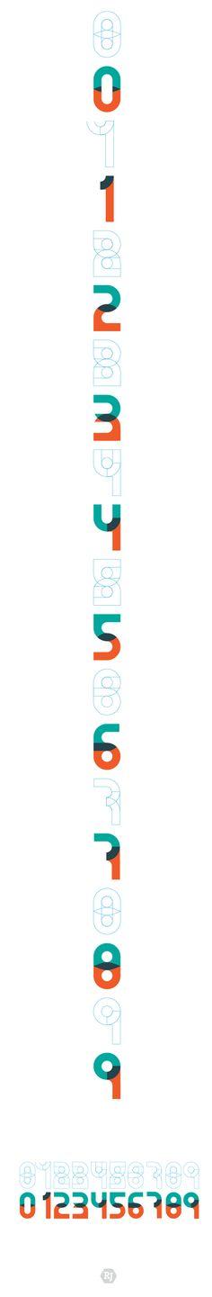 Bircular - Numeric Font by Rodrigo Jimenez, via Behance