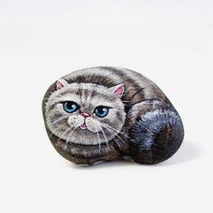Cat Stone painting.