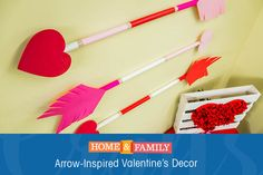 Give Cupid some credit this Valentine's Day and decorate using Arrow-inspired DIYs! Craft demoed by @fromscratchMP on Home and Family! Tune in at 10/9c on Hallmark Channel.