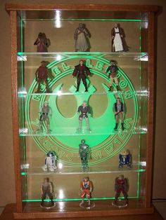 Custom Star Wars Action Figure Led Lit Display Case