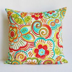 Hey, I found this really awesome Etsy listing at https://www.etsy.com/listing/385105928/outdoor-floral-pillow-cover-decorative