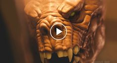 Escultor Faz Incrível e Detalhada Escultura De Assustadora Criatura