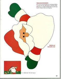 Moldes Para Artesanato em Tecido: Papai Noel Almofadas Patchwork Apliques, Com Moldes