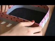 Maleta em cartonagem parte 2 - YouTube                                                                                                                                                                                 Mais