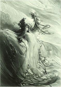 CLAIRIN, Georges Jules Victor (1843–1919) La Grande Vague1898