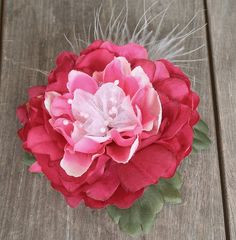 Handmade Pink Feather Flower