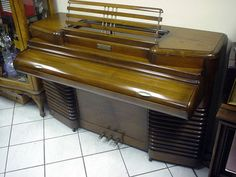 ART DECO PIANO RCA FIRST ELECTRIC PICK UP, MODEL SHOWN at 1939 WORLD'S FAIR