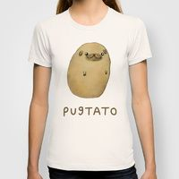 Womens T-shirts featuring Pugtato by Sophie Corrigan