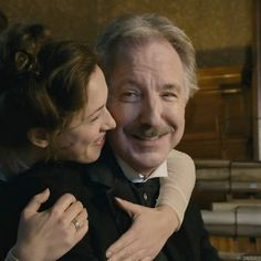 2014 -- Alan Rickman and Rebecca Hall in 'A Promise'. I love this so much.