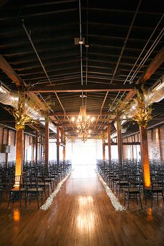 Gorgeous, wooden indoor #ceremony space | Phindy Studios | Brides.com