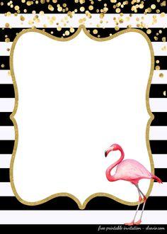 Awesome FREE Template FREE First Birthday Invitations Flamingo Style - josephine Luau Birthday Invitations, Free Printable Birthday Invitations, Card Birthday, Birthday Greetings, Birthday Ideas, Happy Birthday, Birthday Banners, Invites, Birthday Parties