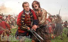 Tobias Menzies as Black Jack Randall and Sam Heughan as Jamie Fraser - 'Outlander' Season 3 First Look - Clash of the Tartans - EW.com