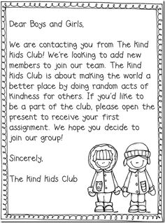 kind kids club- start in Jan.