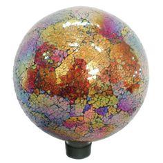 VCS Mosaic Glass Gazing Ball, Copper/Red, (Discontinued by Manufacturer) Glass Garden, Garden Art, Garden Globes, Mailbox Covers, Lawn Ornaments, Copper Red, Flag Decor, Glass Globe, Garden Supplies