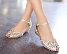 Amazing Flat Bridal Shoes Designs