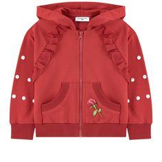 Monnalisa - Sweatshirt with lace at the back Baby Boy Dress, Baby Boy Outfits, Kids Outfits, Girls Bomber Jacket, Girl Sweat, Kids Coats, Baby Kind, Raglan, Kids Wear