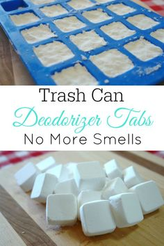 to Make Trash Can Deodorizer Tabs Tired of a smelly trash cans? Try these DIY trash can deodorizer tabs.Tired of a smelly trash cans? Try these DIY trash can deodorizer tabs. Homemade Cleaning Products, Household Cleaning Tips, Toilet Cleaning, House Cleaning Tips, Natural Cleaning Products, Spring Cleaning, Cleaning Hacks, Household Cleaners, Bathroom Cleaning