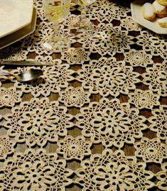 Crochet Patterns: Patrones de ganchillo Mantel - Gorgeous