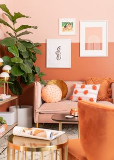 color adventures: an orange-inspired living room! - Oh Joy! Decor, Interior, Curtains Living Room, Curtains Living, Living Room Orange, Room Inspiration, Bedroom Decor, Vibrant Living Room, Bedroom Wall Colors